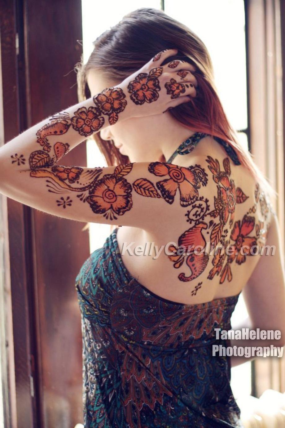 Henna Tattoo Coloring Pages Color Ink Henna Tattoo on Left