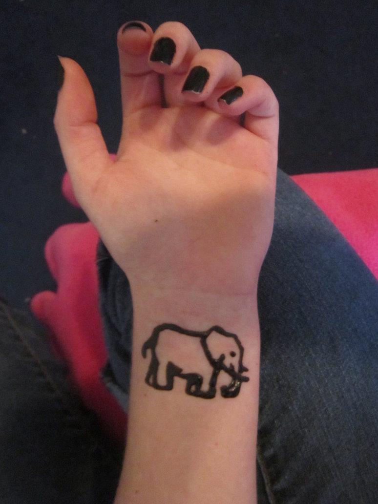 Allen Henna Barcode Tattoo On Wrist