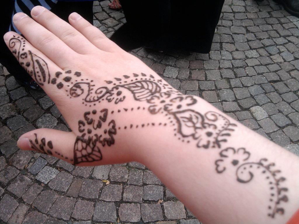 Henna Tattoo On Both Legs