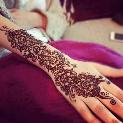 Henna Tattoo On Right Sleeve