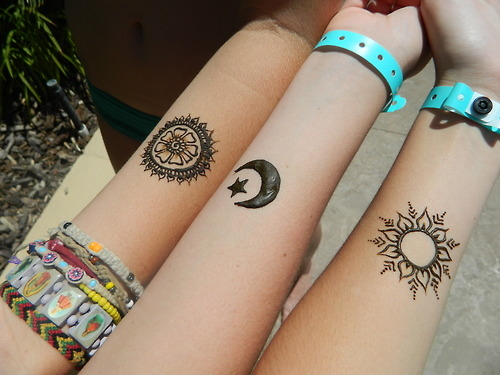 Tribal Henna Tattoo On Right Forearm