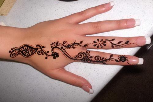 Superior Henna Tattoo On Girl Left Hand