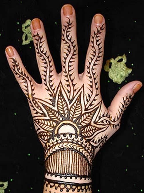 Mehndi Back Hand Flower : Henna tattoo images designs