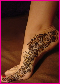 Henna tattoo images designs for Foot henna tattoo