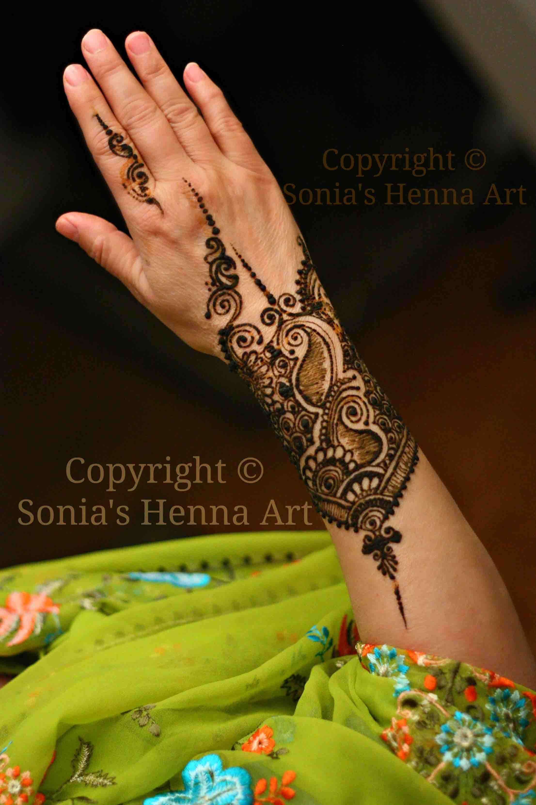 Tribal Henna Tattoo On Left Forearm