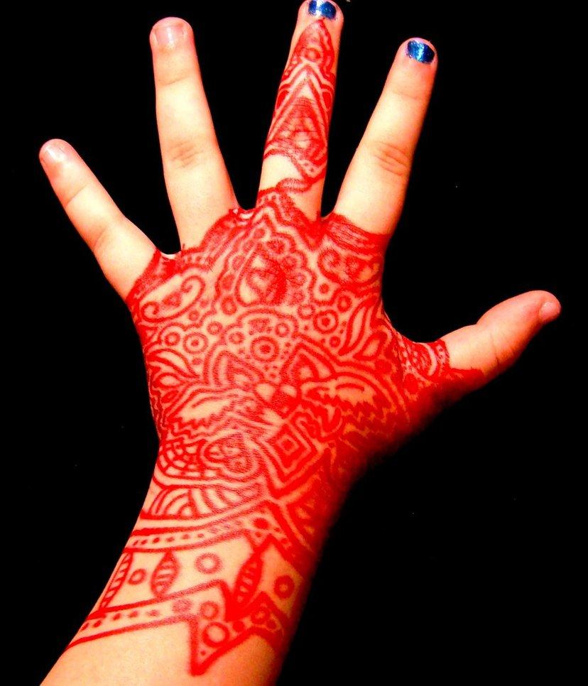 Red Henna Tattoo: Henna Tattoo Images & Designs
