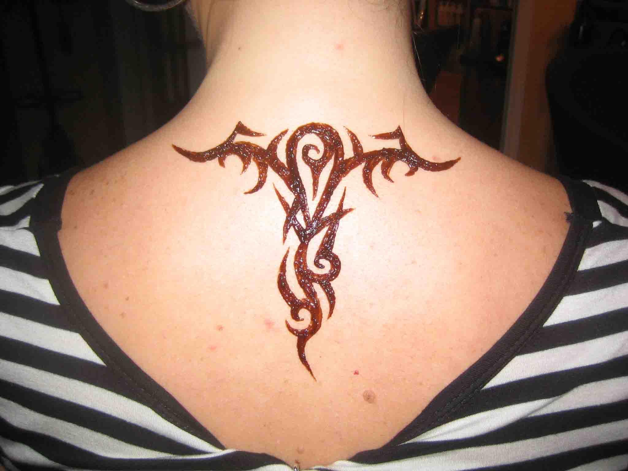 Henna tattoos tribal
