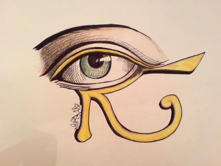 Eye of Horus Tattoo on Hand Horus Eye Tattoo Design
