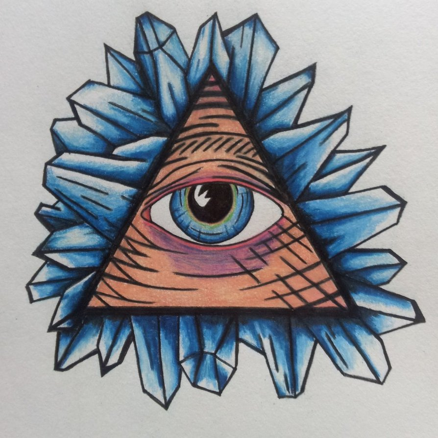 Illuminati eye tattoo images designs for Crystal eye tattoos