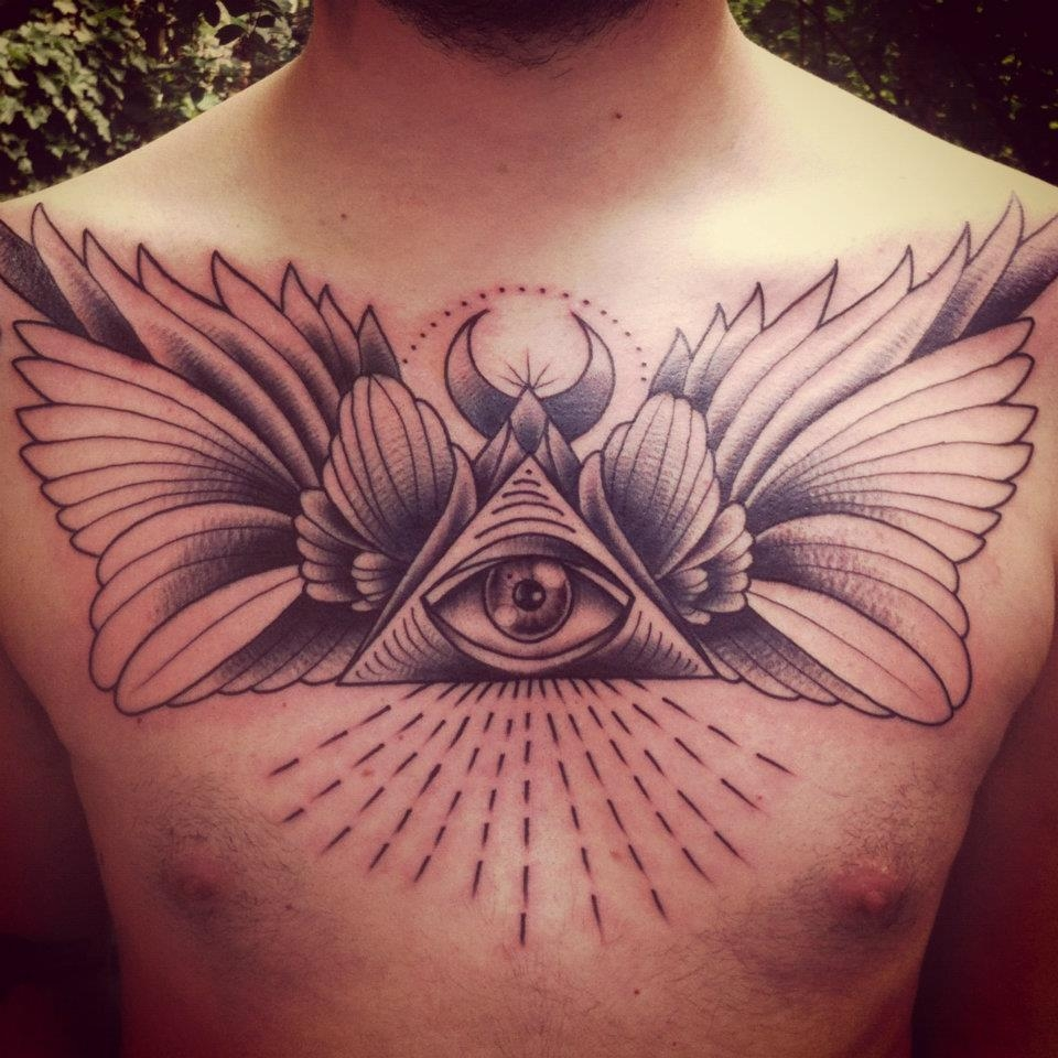 Illuminati Tattoos Designs Illuminati eye tattoo on