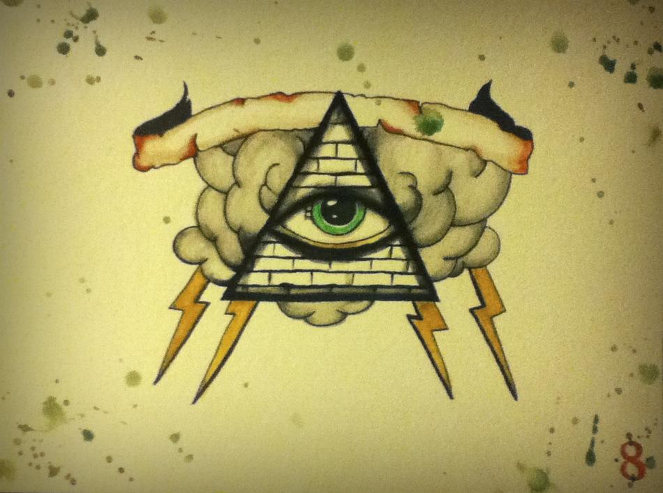 Illuminati Triangle Tattoo Awful Banner and Illuminati