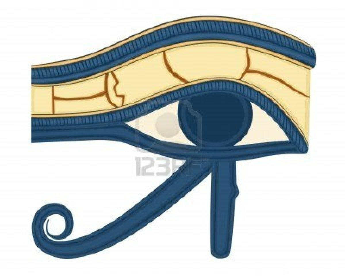 Beautiful Blue Ink Horus Eye Tattoo Design