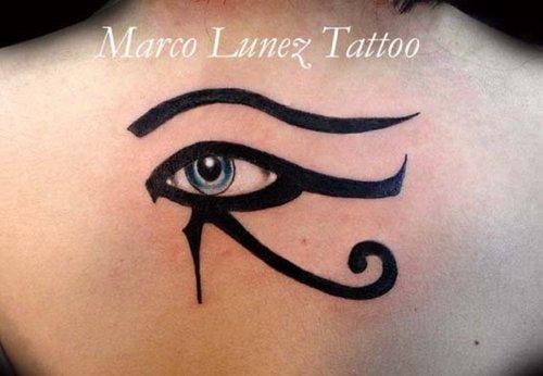 Beautiful Color Eye of Horus Tattoo