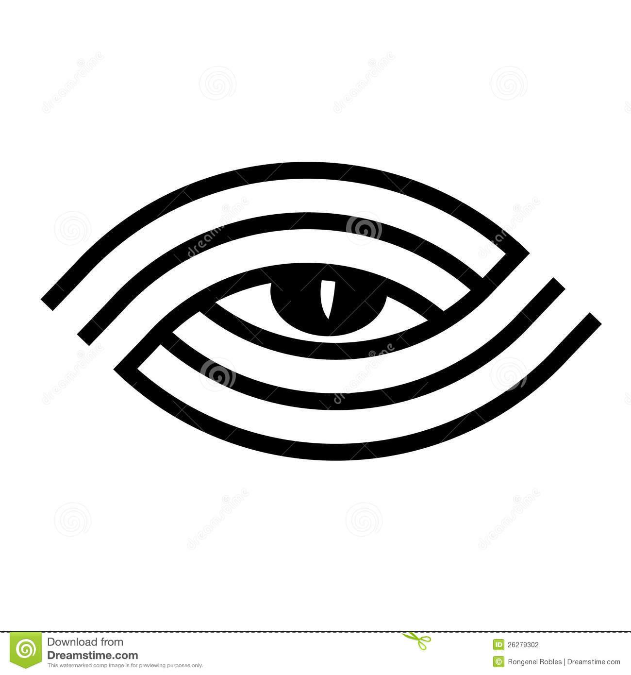 Best Black Tribal Illuminati Eye Tattoo Design