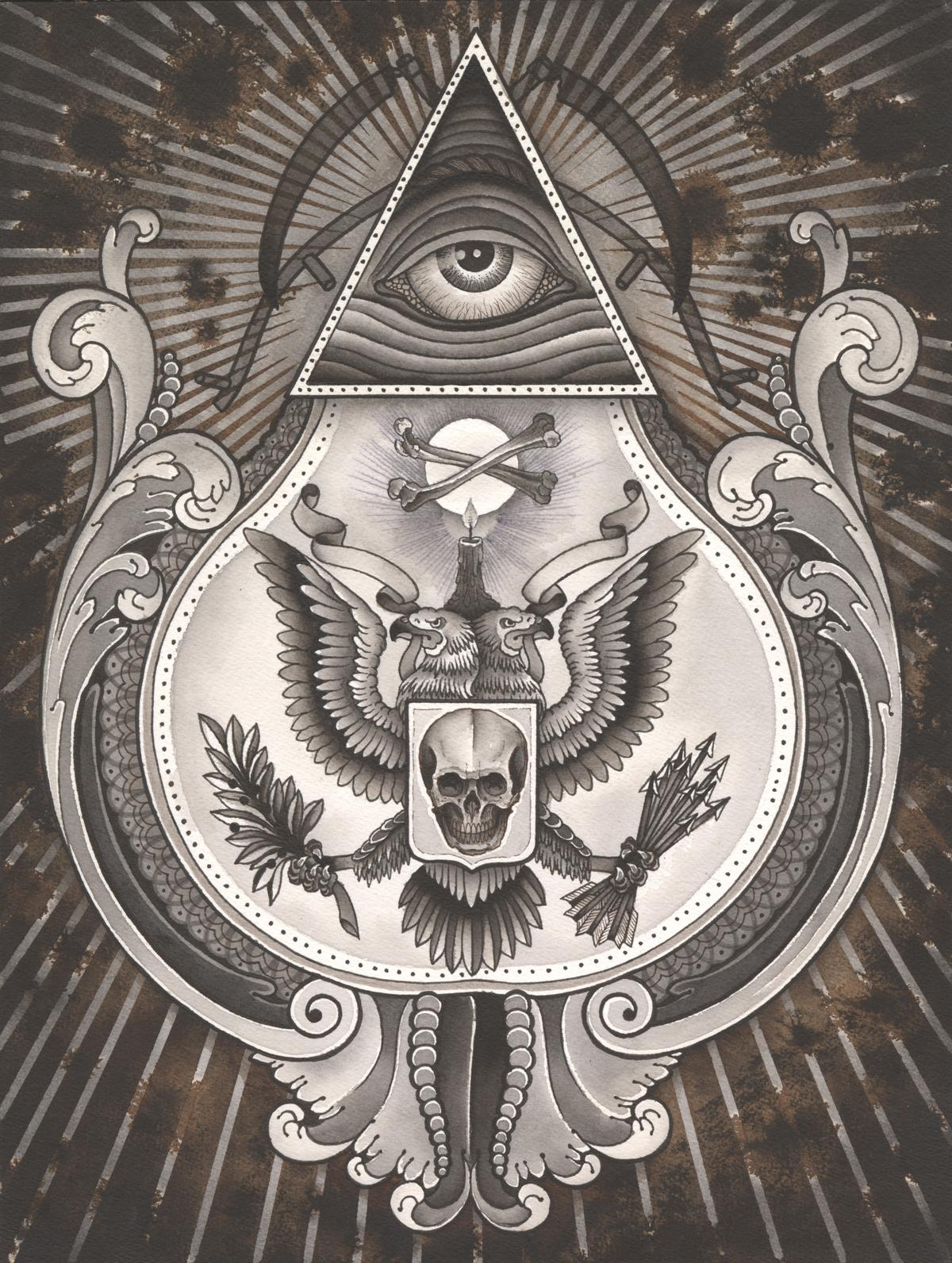 Illuminati eye tattoo images designs for Secret design