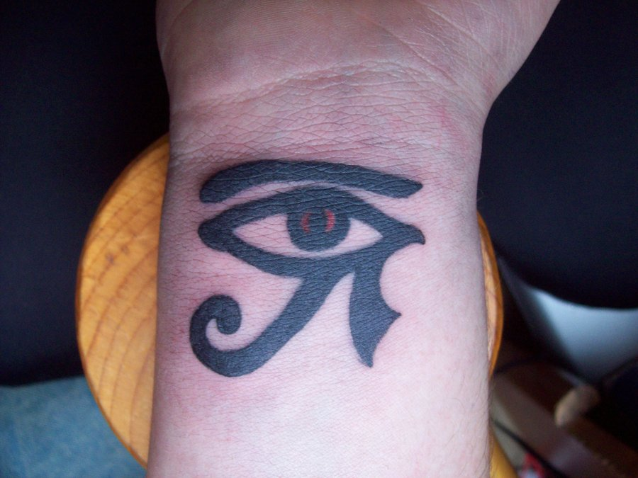 Eye of Horus Tattoo on Hand Black Ink Horus Eye Tattoo on