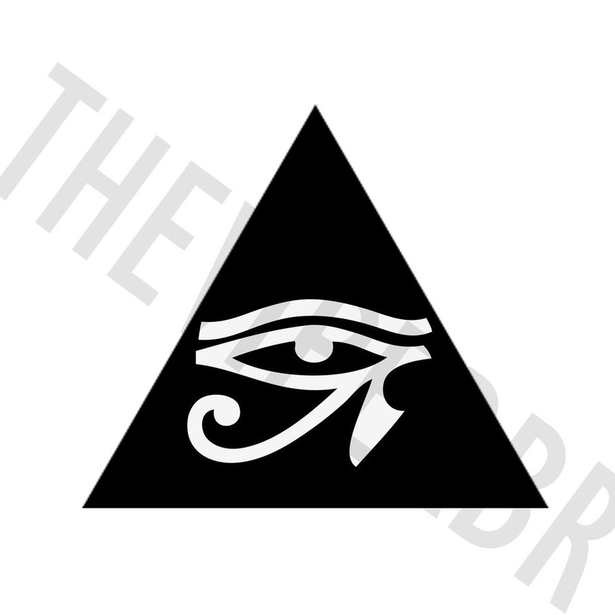 Horus Eye Tattoo Images & Designs Eye Of Horus In Triangle