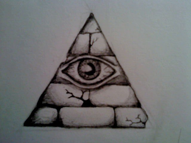 Illuminati All Seeing Eye Pyramid Tattoo