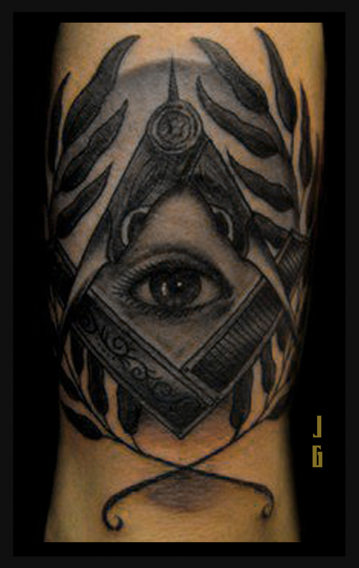 Illuminati Tattoo Sleeve Dark ink illuminati eye tattooIlluminati Tattoo Sleeve