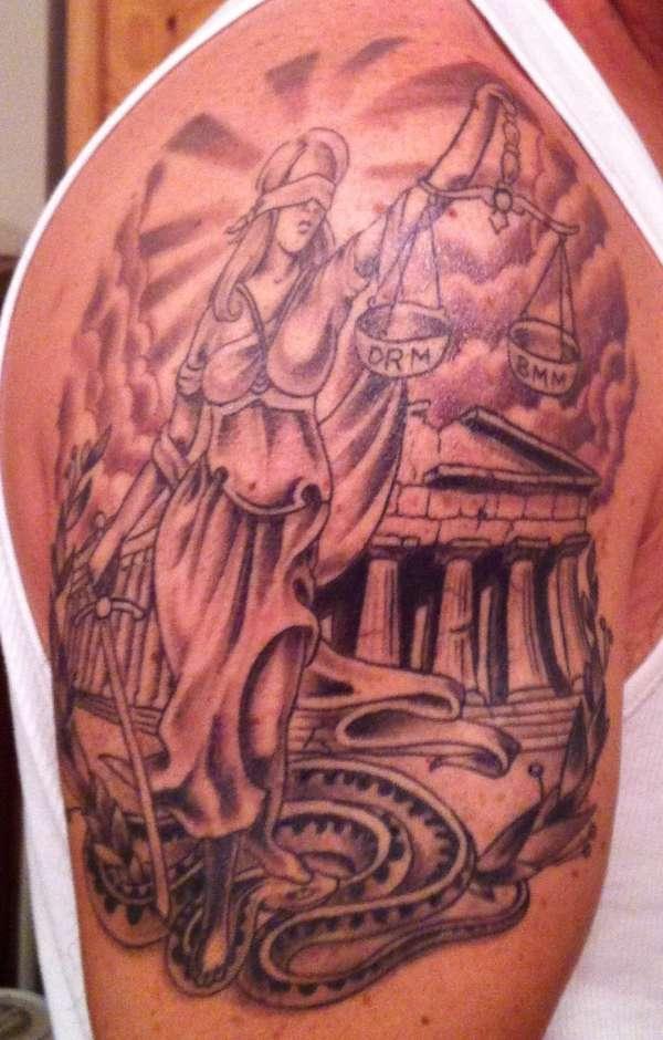 Justice Tattoo Images Amp Designs