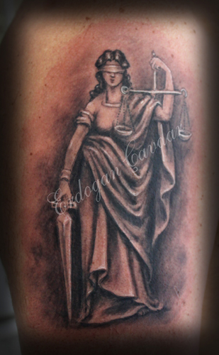 Justice tattoo images designs for Tattoos of lady justice
