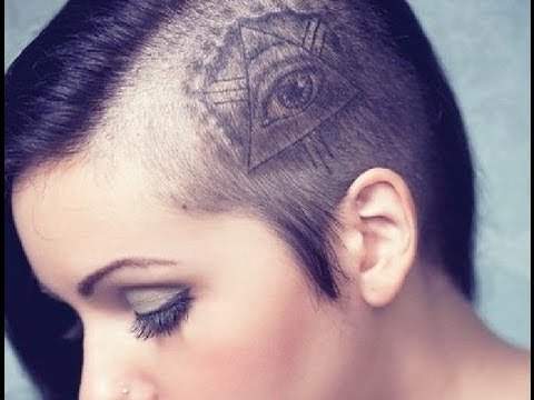 Illuminati Eye Tattoo On Girl Back Body