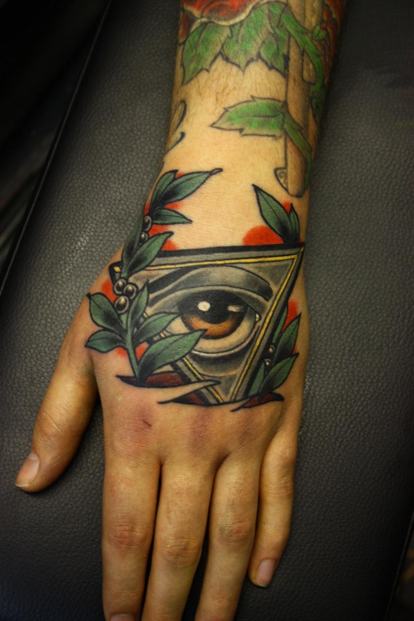 Simple Illuminati Tattoos Hand Illuminati Eye Tattoo
