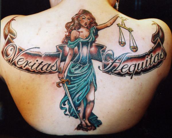 Justice tattoo images designs for Veritas aequitas tattoos