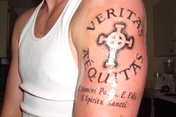 Veritas aequitas justice tattoo on left shoulder for Veritas aequitas tattoos