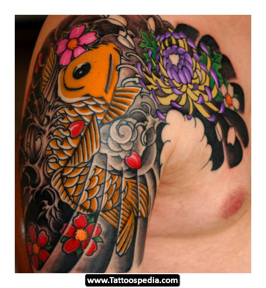 Amazing Colored Japanese Tattoo On Right Half Sleeve