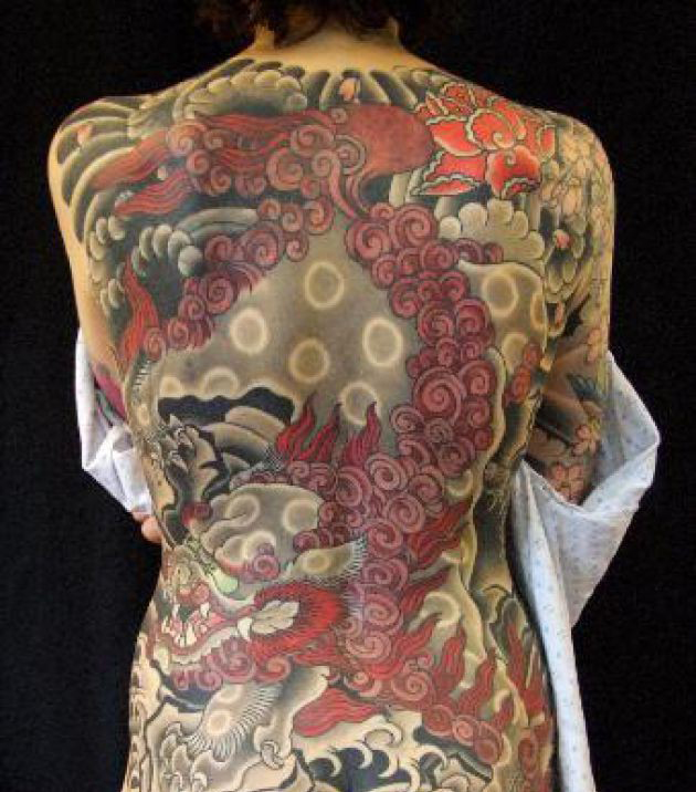 Back Body Japanese Tattoo For Women