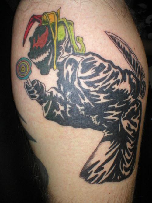 black tribal jester