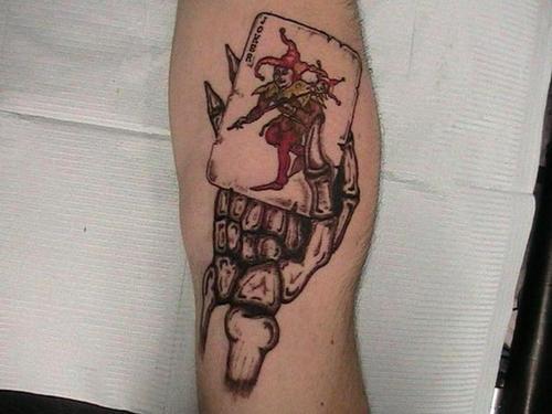 Card Jester Tattoo On Arm