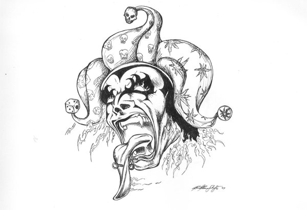 evil jester tattoo design rh tattoostime com evil jester tattoo designs Evil Skull Tattoos