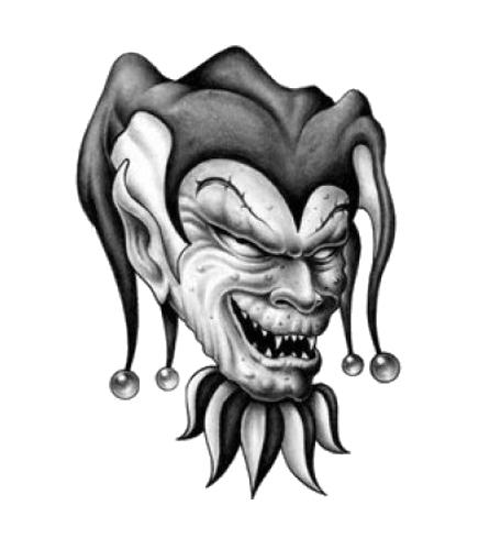 evil joker jester tattoo design rh tattoostime com evil joker skull tattoo designs evil jester tattoo designs