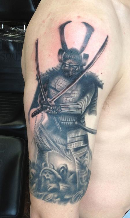 Japanese Samurai Sleeve Tattoo