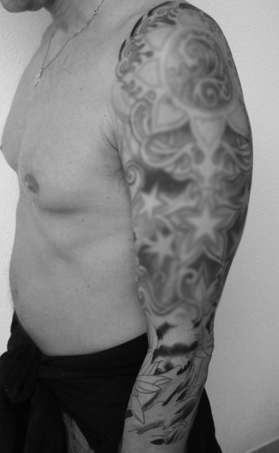Japanese Wave Sleeve Tattoo