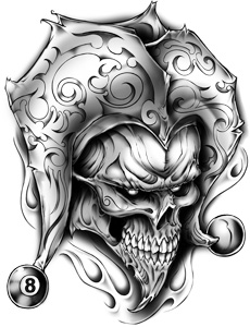 Pics Photos Jester Skull Tattoo Designs