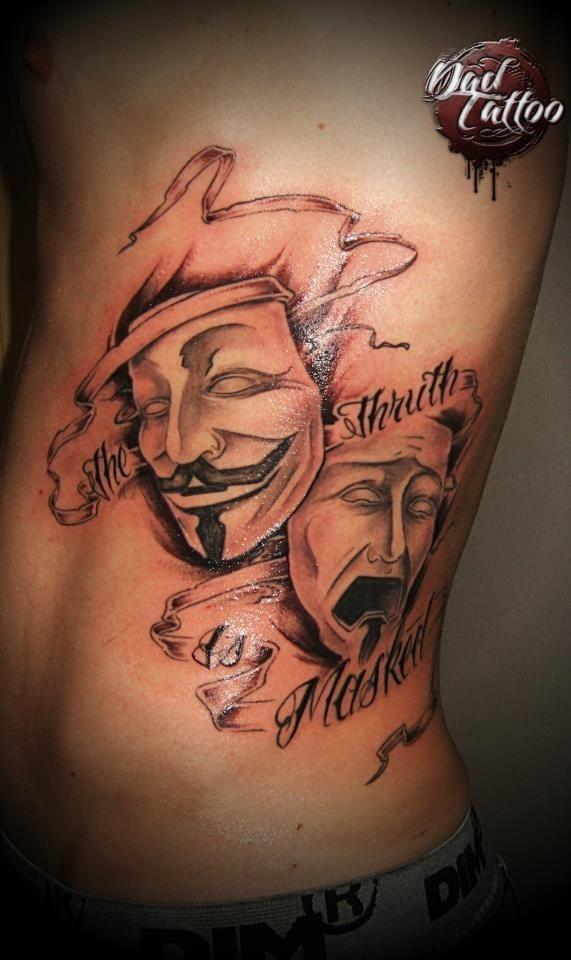 Rib Side Jester Tattoo