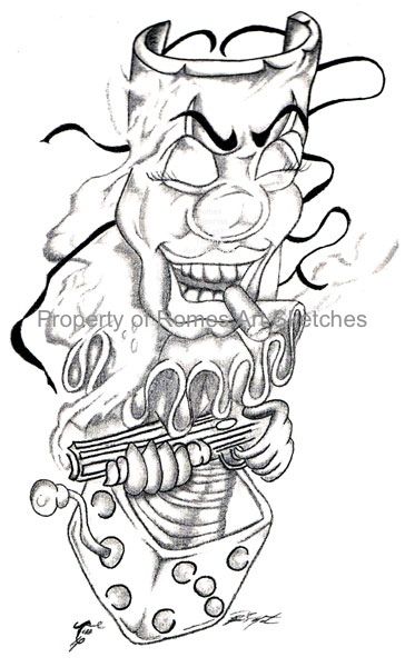Gallery For gt Jester Tattoo Drawings