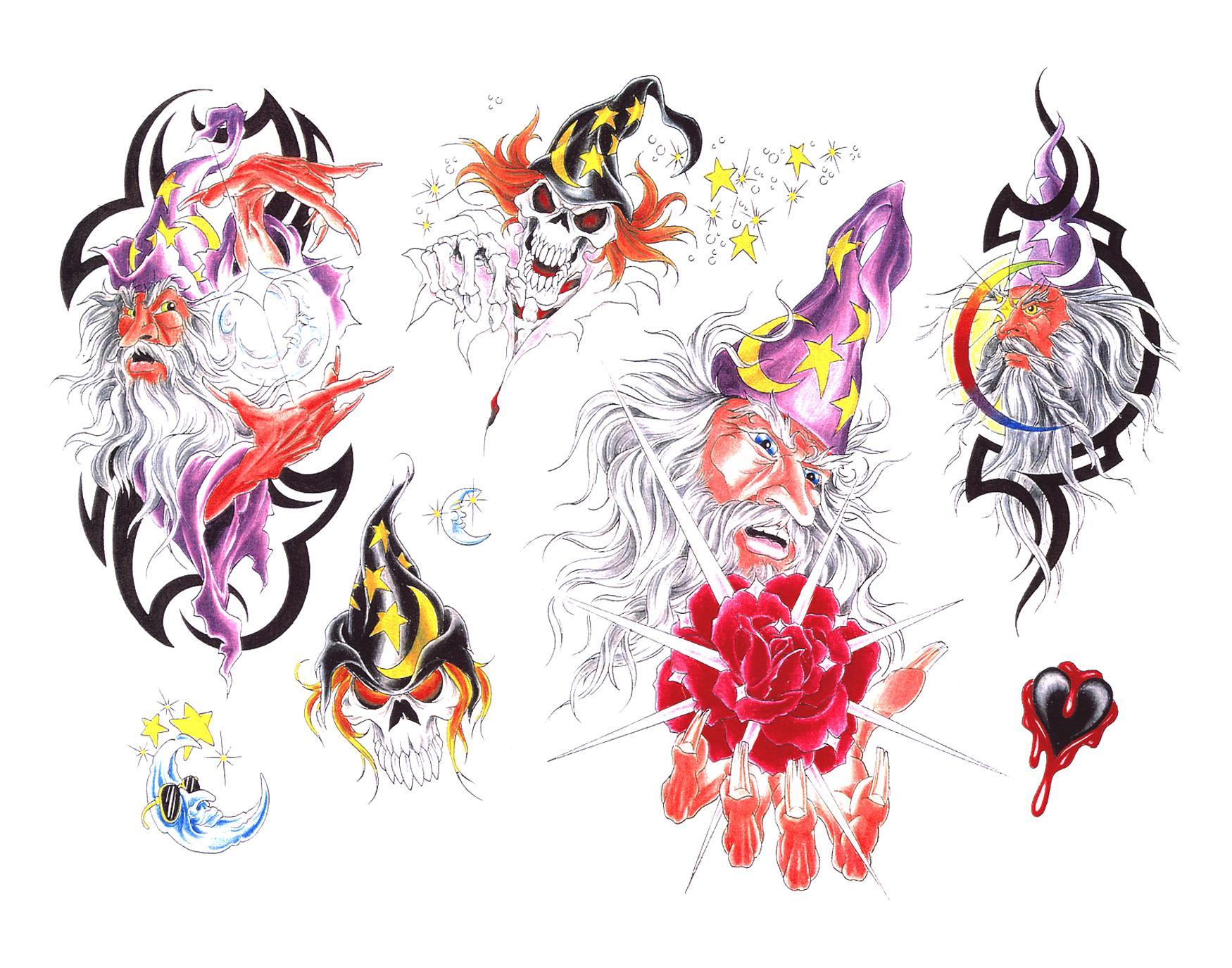 Эскизы татуировок звезды