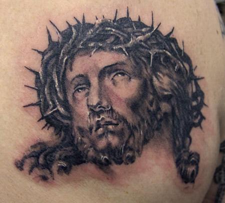 Barbed Crown Jesus Tattoo