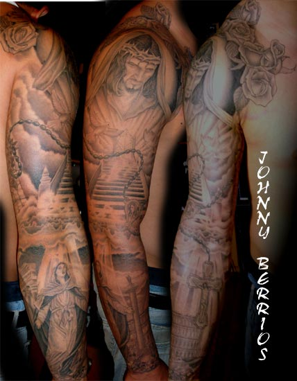 Jesus tattoo images designs for Sick tattoo sleeves