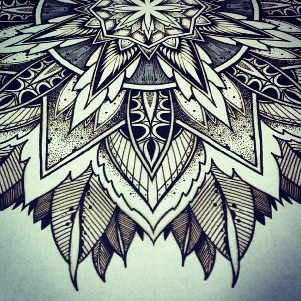 Awesome mandala flower tattoos design