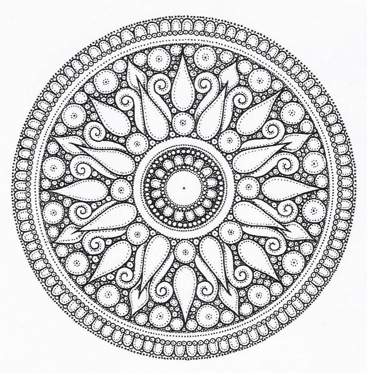 Best Grey Ink Mandala Flower Tattoo Design