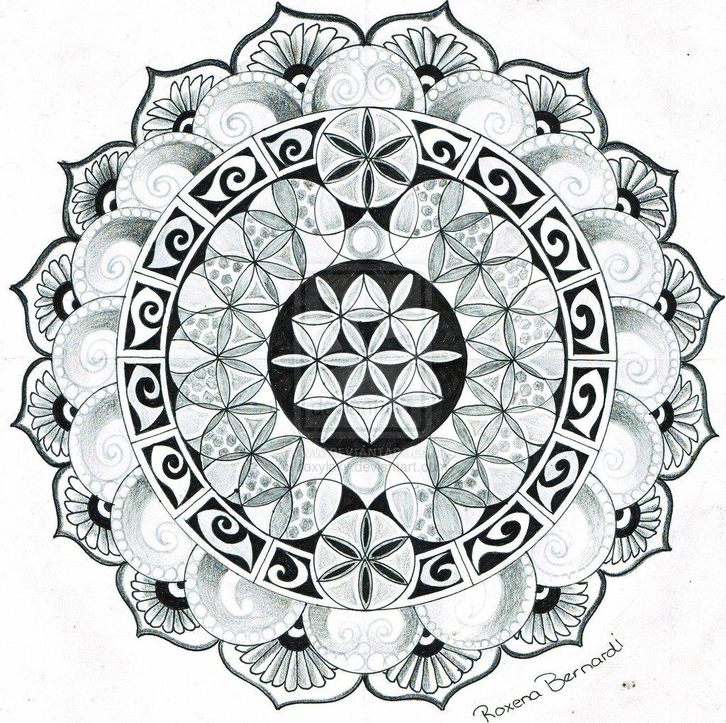 best large mandala flower tattoo design. Black Bedroom Furniture Sets. Home Design Ideas