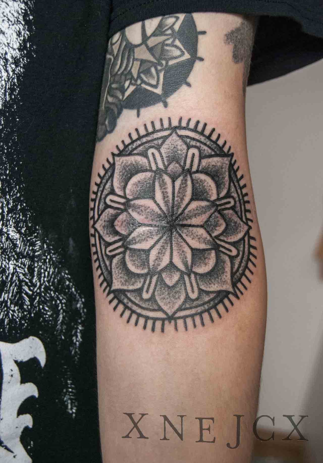 Mandala Flower Tattoo Arm Flowers Healthy