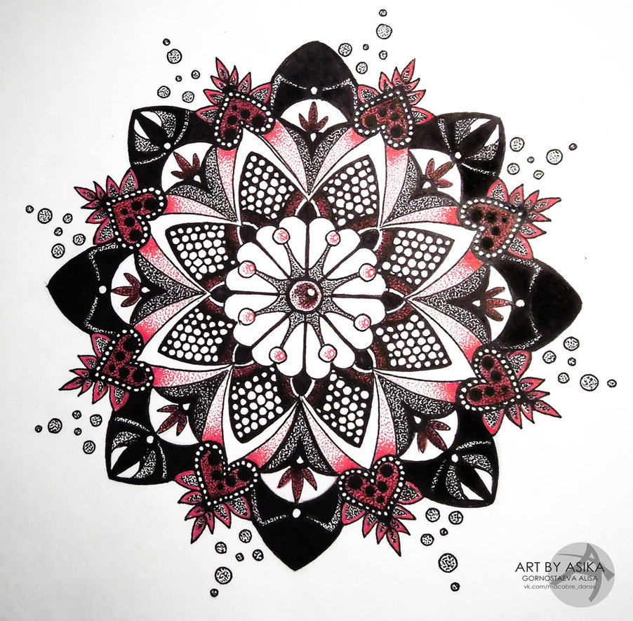 Mandala Dotwork Flower Tattoo Design