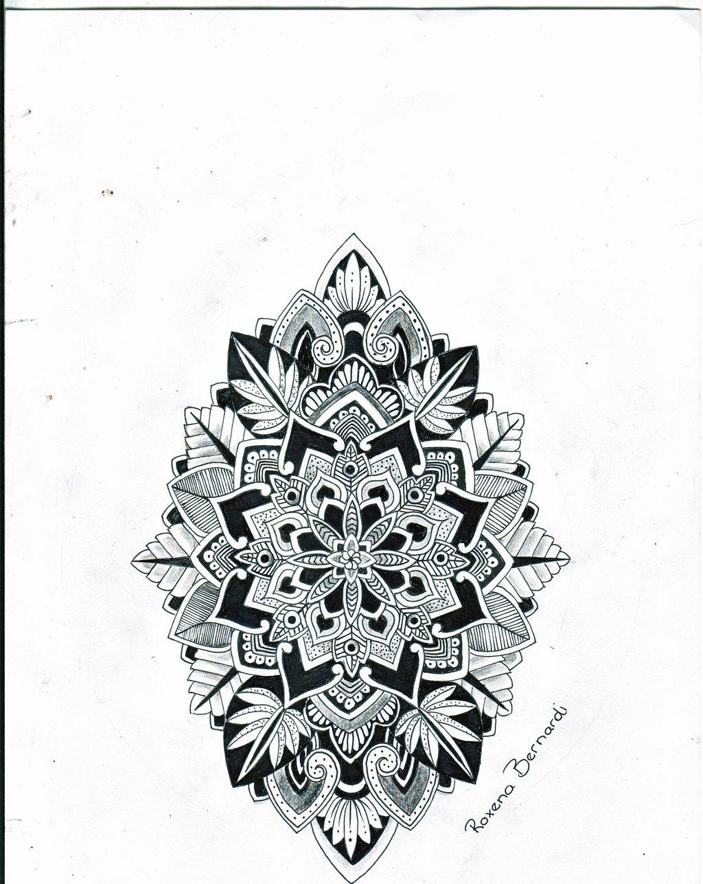 mandala flower tattoo design for men. Black Bedroom Furniture Sets. Home Design Ideas