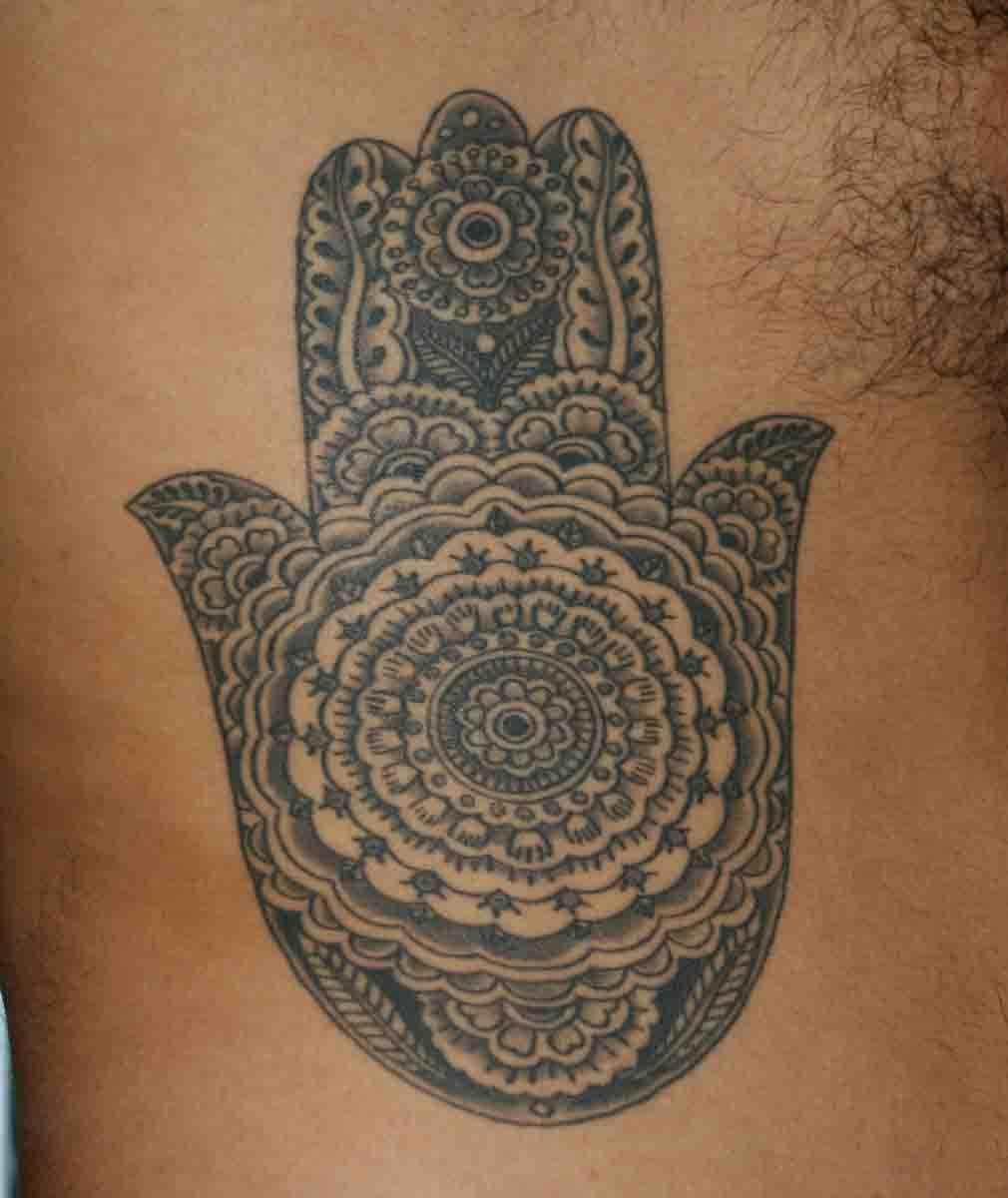 Tattooing Art By Yoni Zilber: Mandala Hand Tattoo